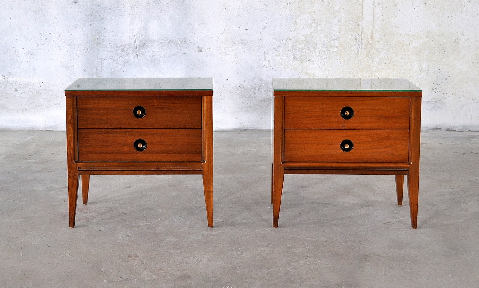 Select modern pair of mid century modern nightstands side or end tables - Pictures of nightstands ...