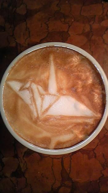 Crane Origami Coffee