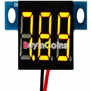 3Pcs Mini Digital Voltmeter 3.3-30V Yellow LED Vehicle Motor Voltage Panel Meter