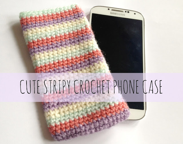 Easy Stripes Crochet Phone Cover