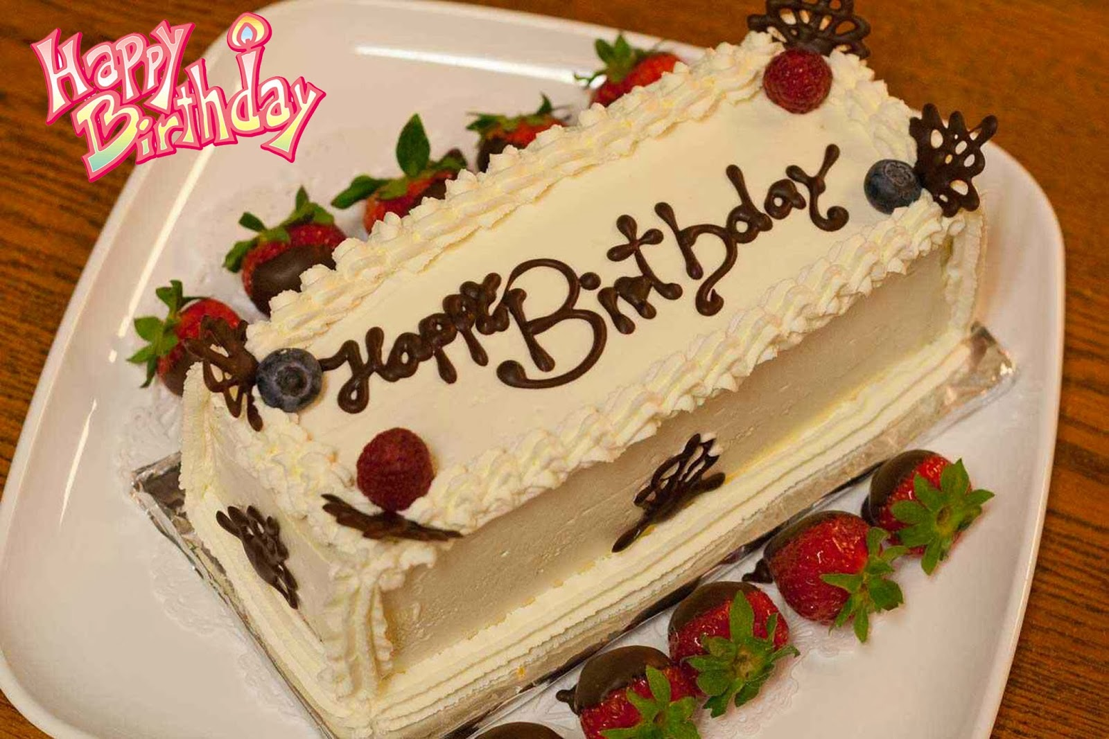 Happy-Birthday-Butter-Cake-With-Strawberry-Image-HD