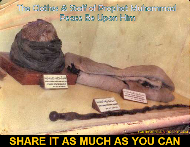 muhammad pbuh turban and stick relics
