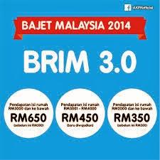 Permohonan BR1M 3.0 Bantuan Rakyat 1Malaysia 2014 telah dibuka mulai