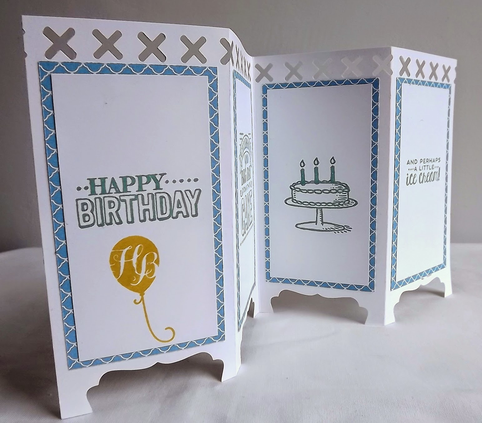 Stampin Up! Panel card happy birthday
