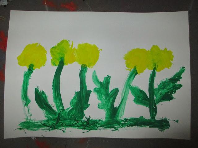 zeichnen und malen im Kindergarten zu Frühling