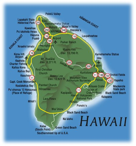 maps of dallas Big Island Hawaii Map