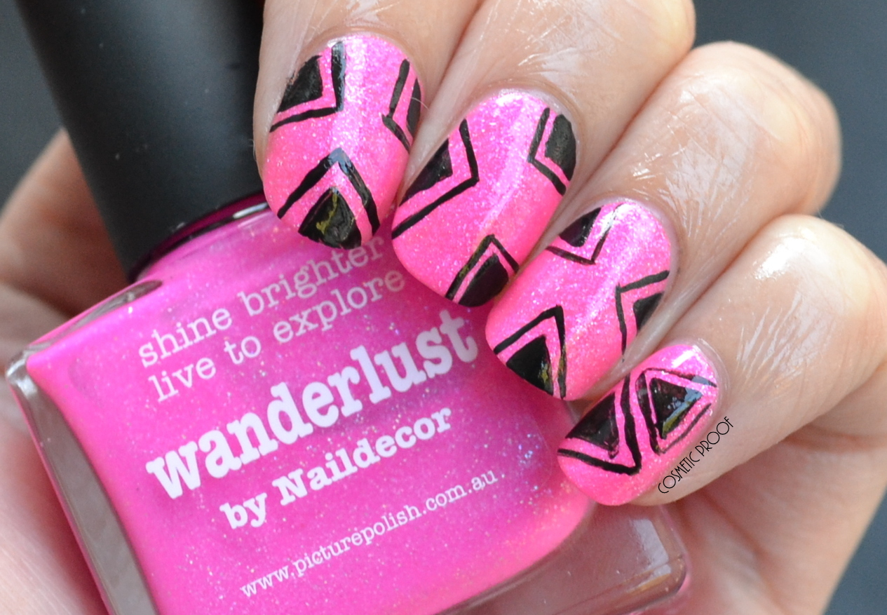 NAILS | Picture Polish Wanderlust by Naildecor with Geometric Nail ...