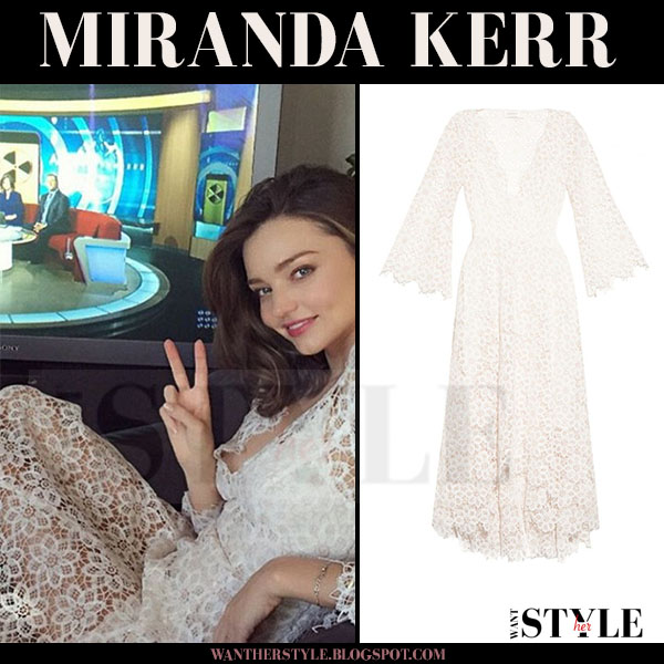 Miranda Kerr in white lace Zimmermann tv appearance what she wore morning show