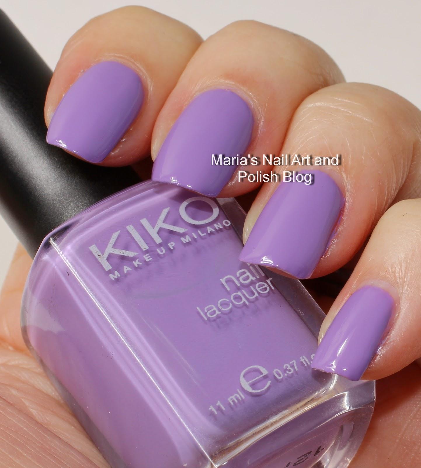Marias Nail Art And Polish Blog: Kiko Swatches: 330 Lilac
