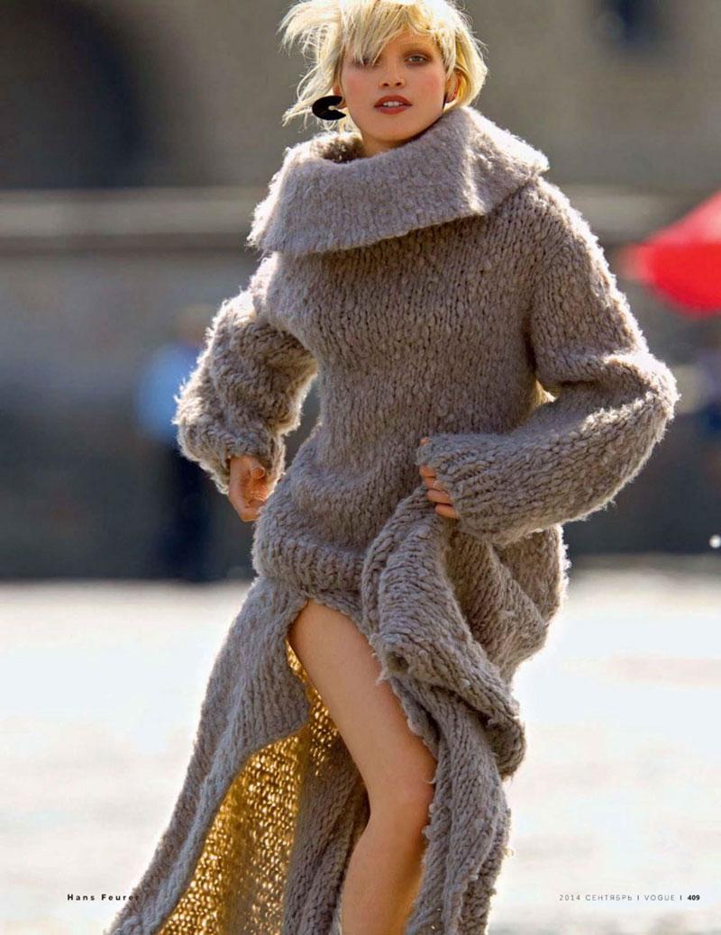 Hana Jirickova in Vogue Russia September 2014 (photography: Hans Feurer, styling: Svetlana Tanakina)