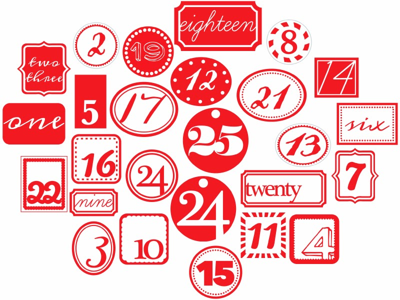 Calendar Numbers Clipart : Antilight craft inspire me… advent calendar and free