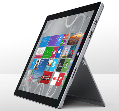 Microsoft Surface Pro 3 Integrated Kickstand Feature