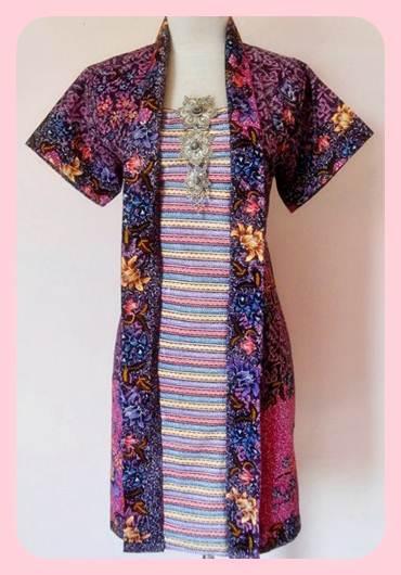 Update model baju batik wanita terbaru warna warni
