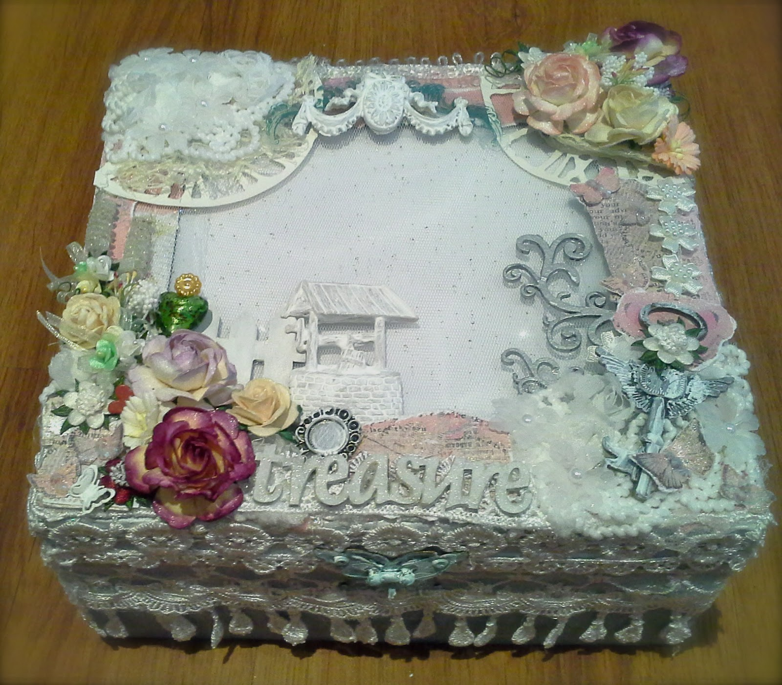 walk with god 39 s favor shabby chic tea box. Black Bedroom Furniture Sets. Home Design Ideas