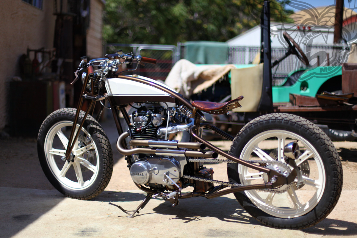 yamaha xs650 boardtracker/bobber and old truck | chappell customs