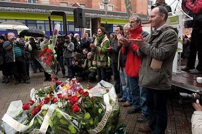 Homenaje a las víctimas del 3 de Marzo de 1976 en Vitoria