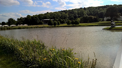 Garsington Opera from across the lake at Wormsley