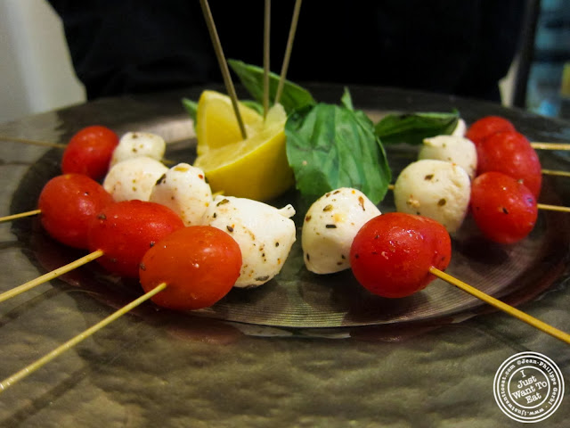 image of tomato and mozzarella at Osteria Del Circo in NYC, New York