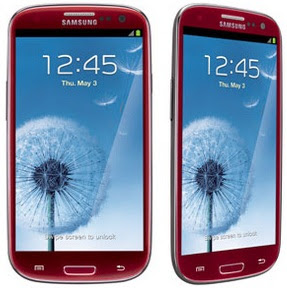 Samsung Galaxy S3 red garnet