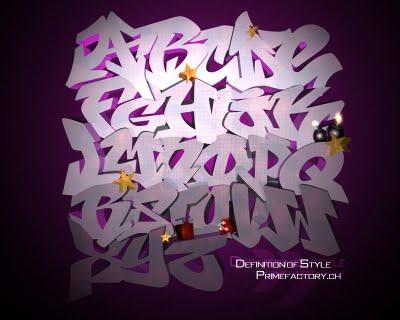 graffiti lettering alphabet. Graffiti Letter Alphabet A-Z