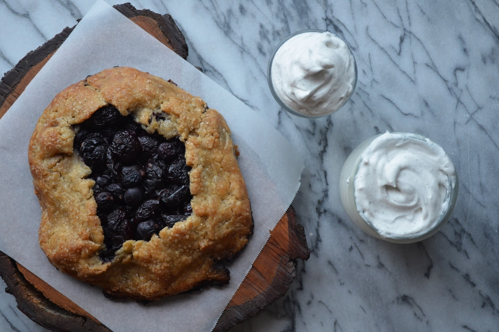 Bourbon Vanilla Cherry Blueberry Pie & Vanilla Bean Whipped Coconut Cream