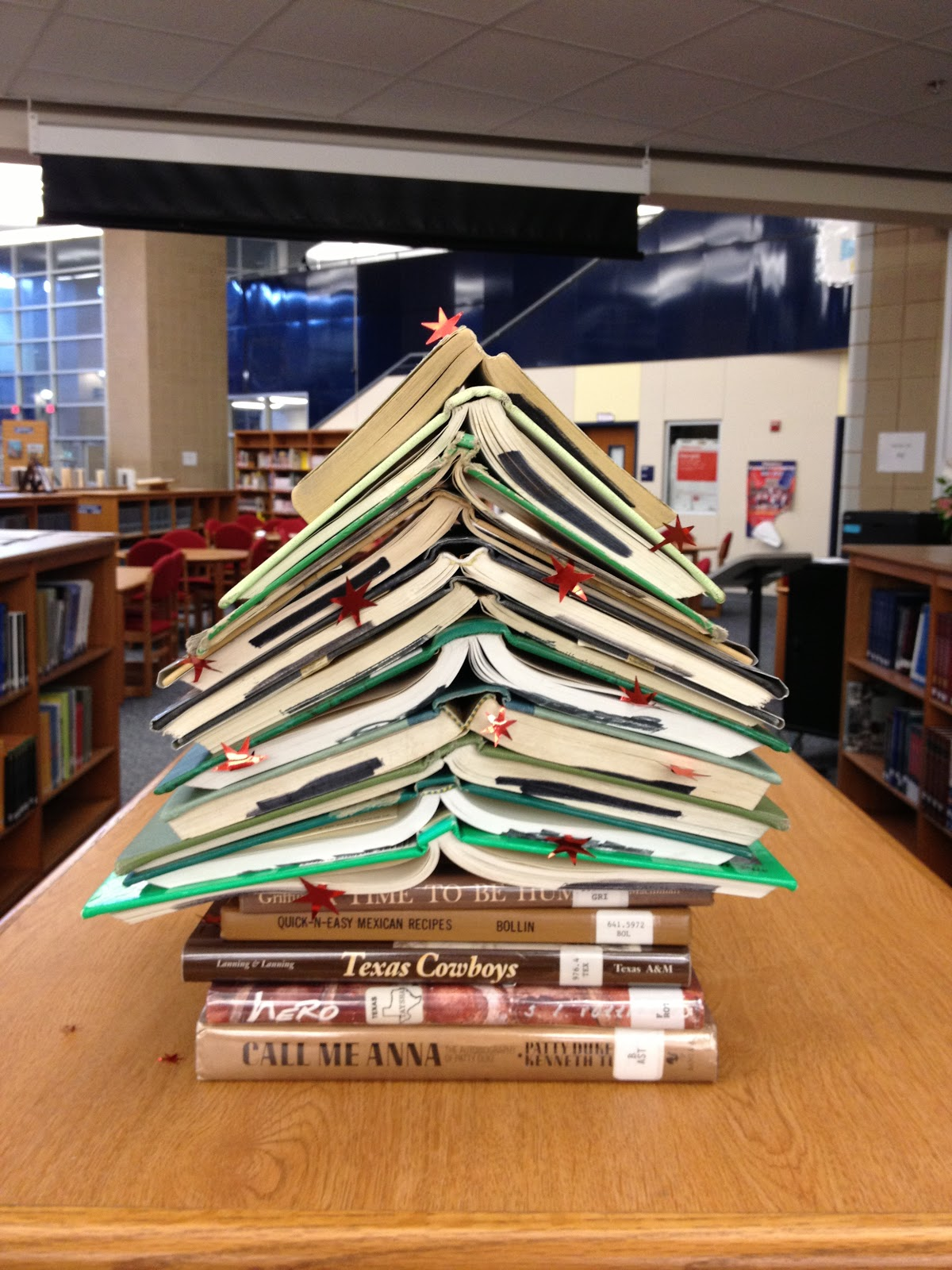 the endeavors of a beta librarian christmas in the library - Library Christmas Decorations