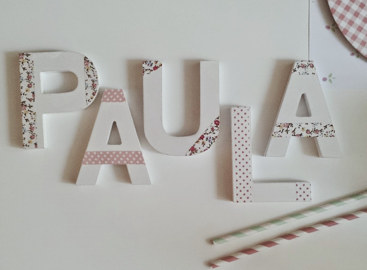Y punto noviembre 2014 - Ideas para decorar letras de madera ...