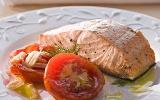 #receita de #salmao com #tomates #assados