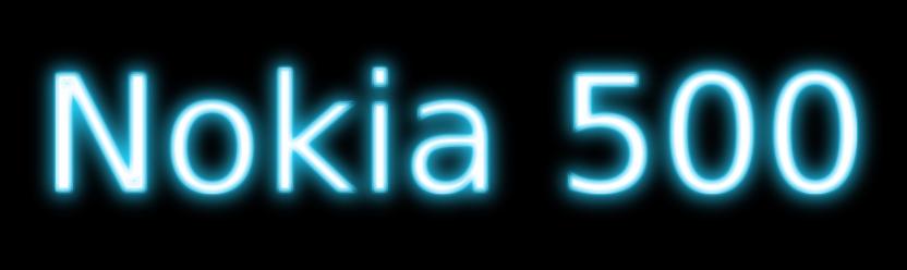 Nokia 500 Blog