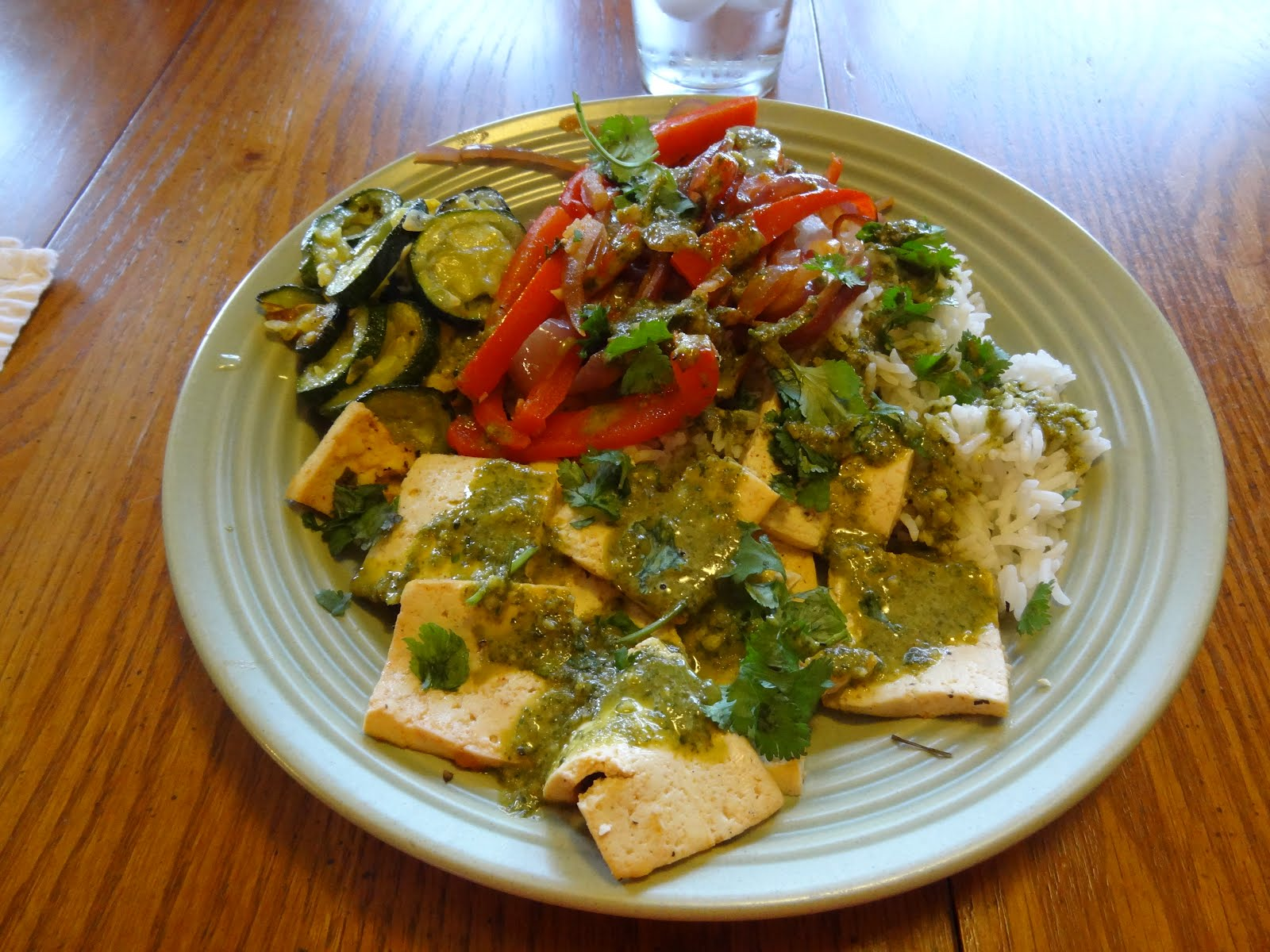 A Papa's Whimsy: Citrus-Marinated Tofu with Onions and Peppers