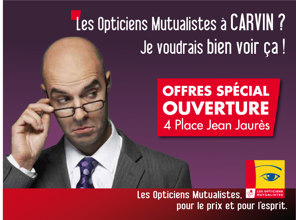 les opticiens mutualistes affiche 4x3 ouverture magasin marion decuypere. Black Bedroom Furniture Sets. Home Design Ideas