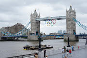 Happy Olympic Games. London Olympic Games are here! (tower bridge olympics)