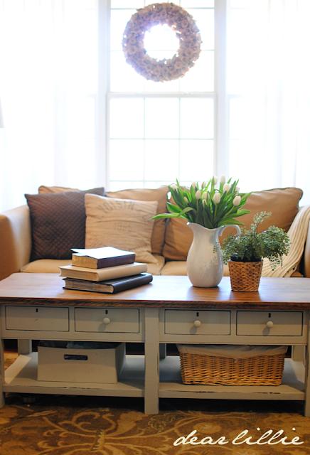 dear lillie: coffee table stepstep