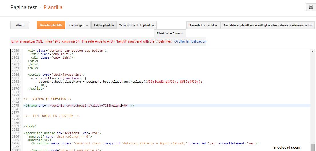 "Solucionar ""Error al analizar XML, línea xxx, columna yyy: The reference to entity ""entidad"" must end with the ';' delimiter."""