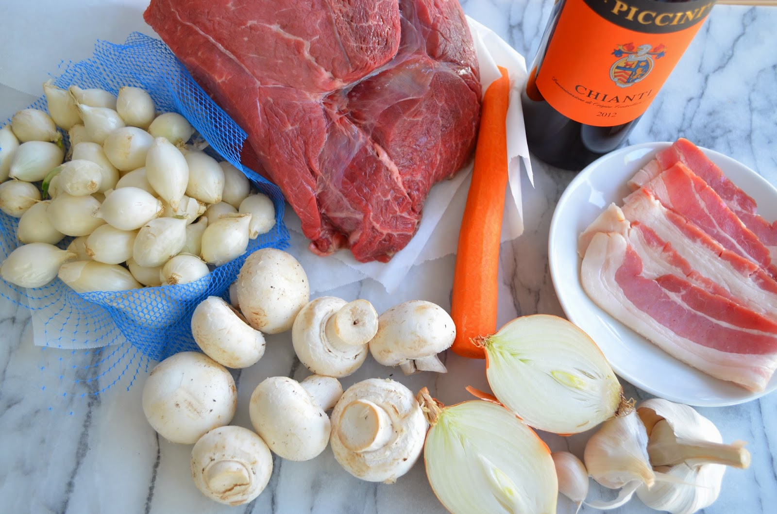 ... Bourguignon (Beef Stew in Red Wine with Bacon, Onions, and Mushrooms
