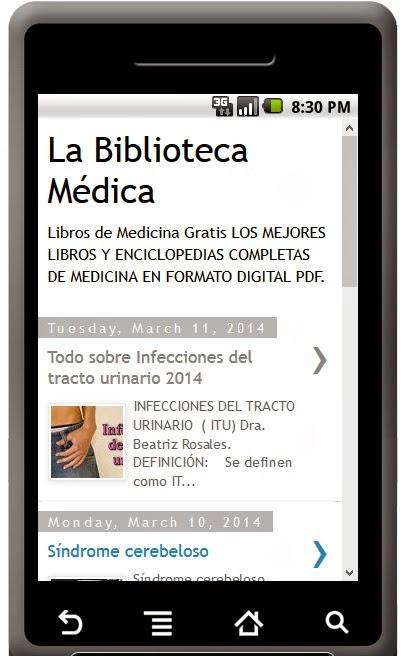 Descargate gratis la aplicacion de la biblioteca medica para android