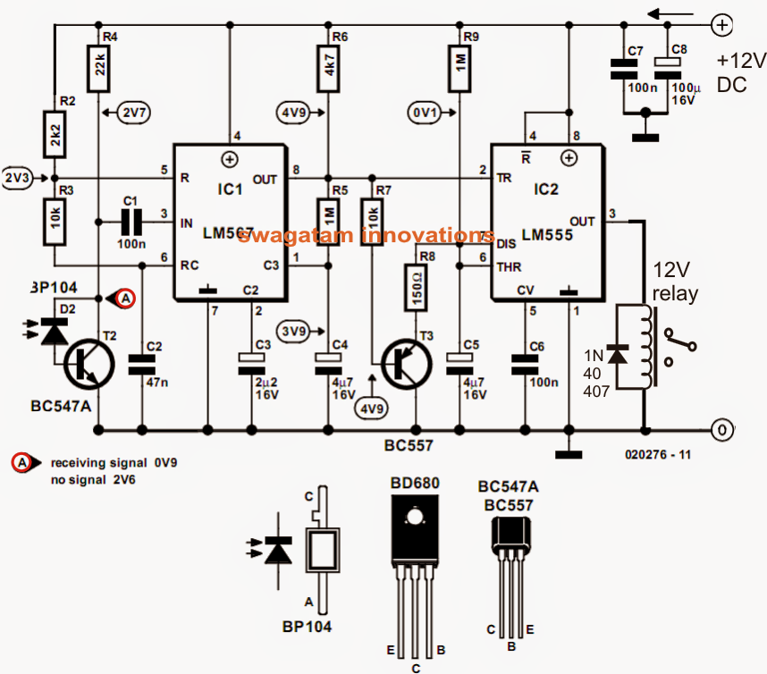 How to Make a Model Locomotive Infrared Controller Circuit