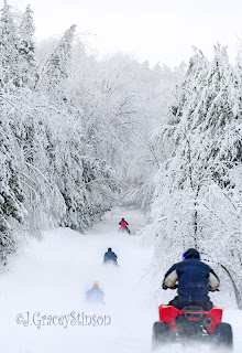 winter trails in Orillia, ATVs and snowmobiles