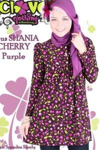 Clover Clothing Blus Shania Cherry - Purple (Toko Jilbab dan Busana Muslimah Terbaru)