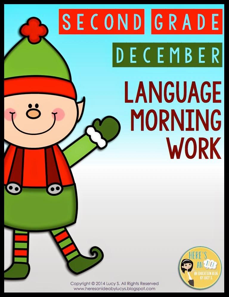 2nd Grade Language Morning Work - December