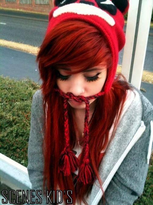 scene girls with bright red hair tumblr wwwimgkidcom