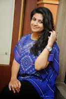 Supriya in Cute Blue Kurta at Bhoo Movie PRess Meet