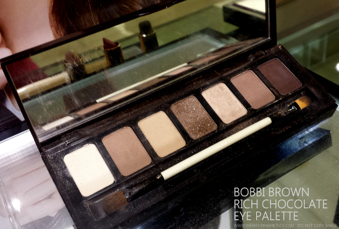 Bobbi Brown Rich Chocolate Makeup Collection Eyeshadow Palette Indian darker skin beauty blog Photos Bone Stone Frappe Caramel Sparkle Champagne Truffle Shimmer Wash Cocoa Rich Chocolate