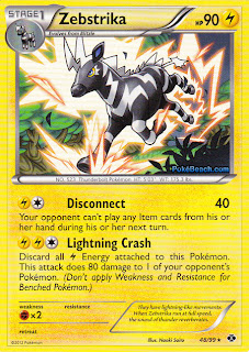 Zebstrika Next Destinies Pokemon Card