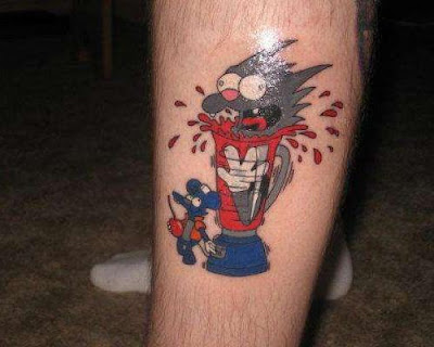 Tatuaje de Itchy and Scratchy