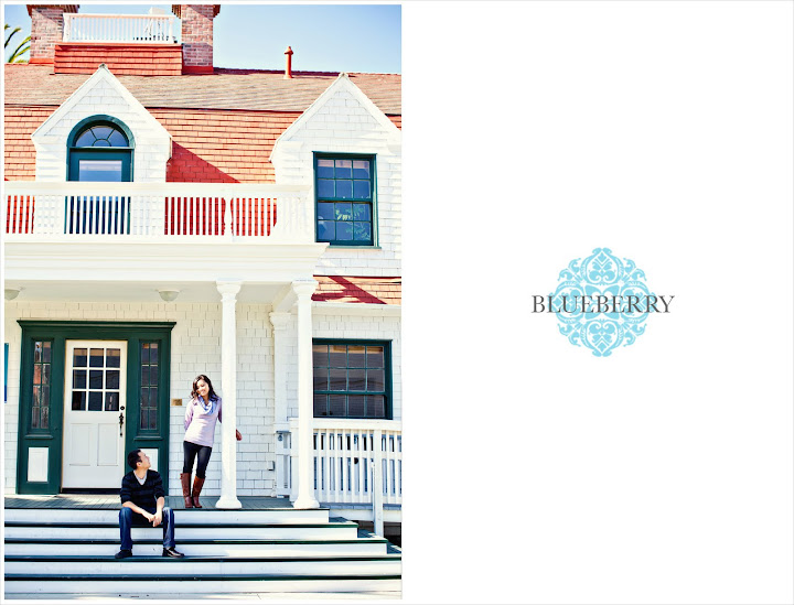 San Francisco cute adorable cottage beach engagement photography session