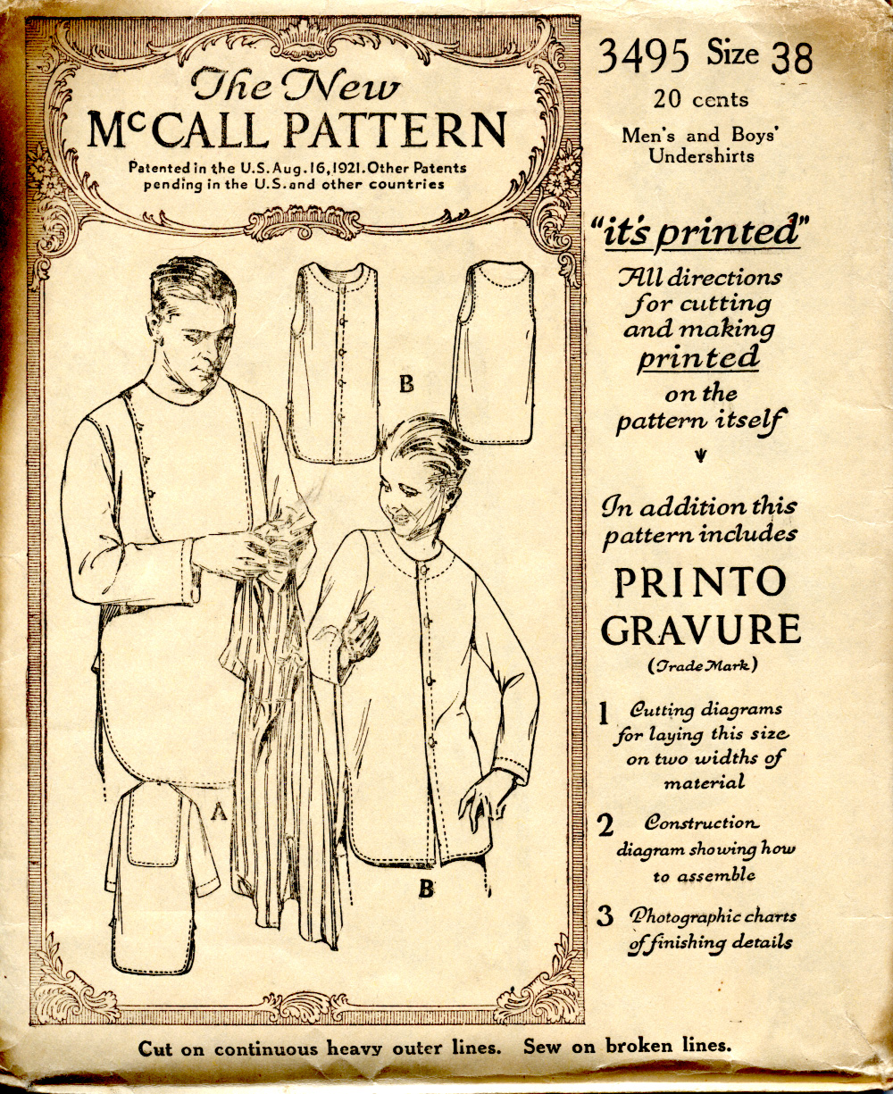 McCall 3495 - Men's and Boys' Undershirts