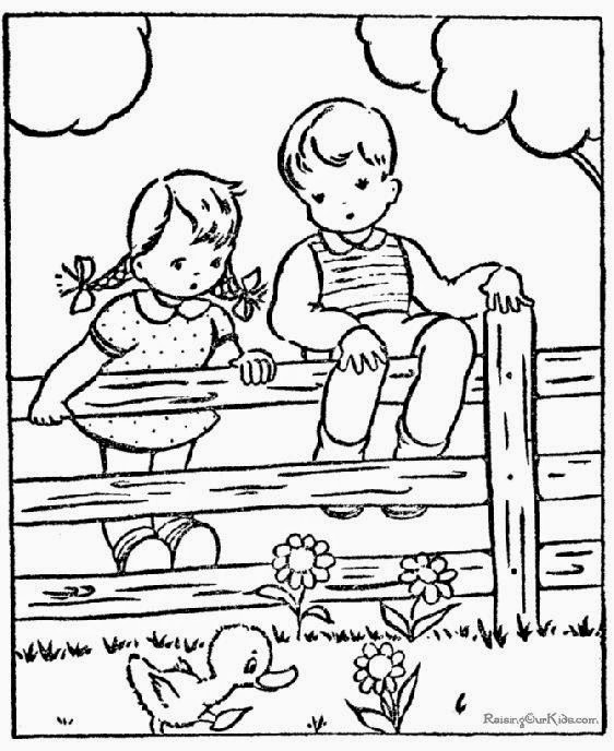 Kid Coloring Pictures | Free Coloring Pictures