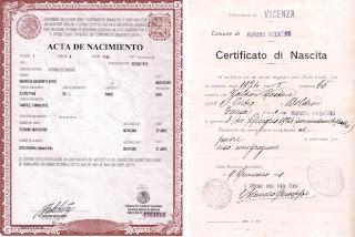Traducción jurada de certificado de nacimiento