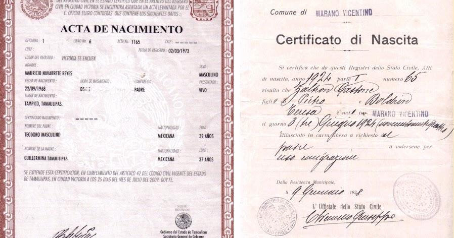 Certificado de nacimiento: Traducción jurada | Traductor Jurado Oficial